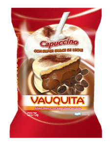 Vauquita White Chocolate Alfajor Capuccino w/ Dulce de Leche / 75g (Pack of 3)