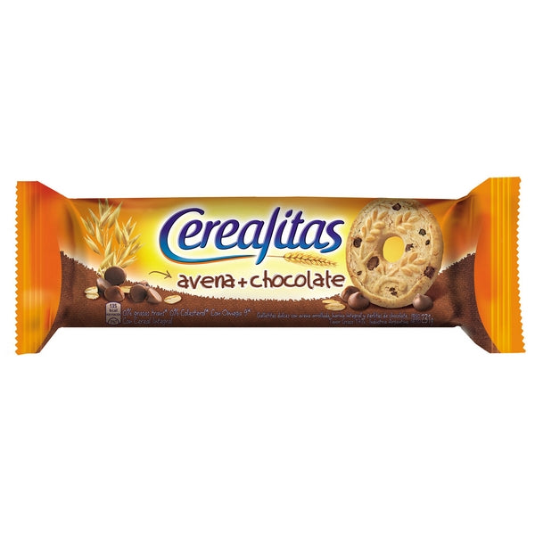 Cerealitas Galletitas Dulces Avena y Chocolate Cookies with Oatmeal and Chocolate / 231g
