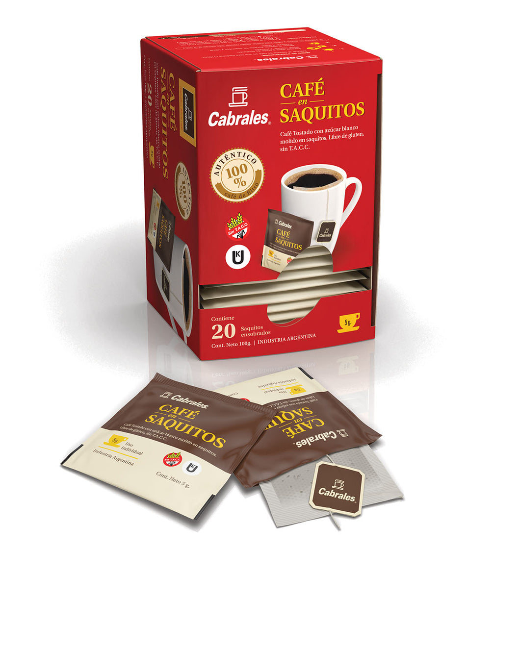 Cabrales Café en Saquitos Coffee Singles (20 units per Box)