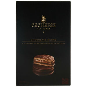 Cachafaz Dark Chocolate Alfajor with Dulce de Leche (Box of 6)