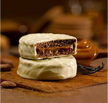 Load image into Gallery viewer, Cachafaz Alfajor White Chocolate with Dulce de Leche (Box of 12)