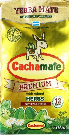 Cachamate Yerba Mate Premium with Mixed Herbs / 500g
