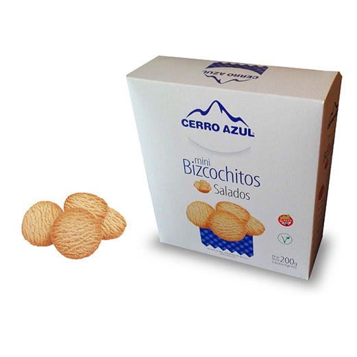 Cerro Azul Mini Bizcochitos Salados Clasico Mini Classic Biscuits VEGAN / 200g
