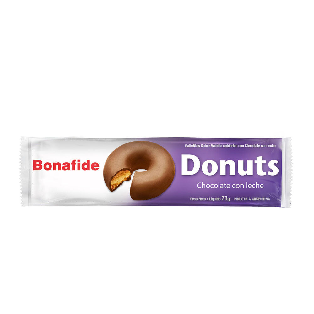 Bonafide Donuts Chocolate con Leche / 78g (Pack of 3)