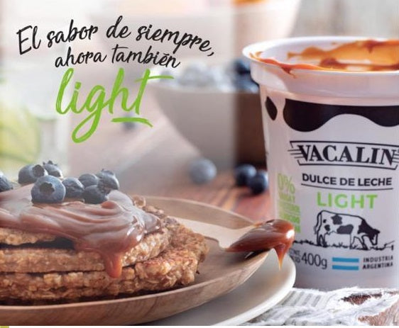 Dulce de leche vacalin - Light