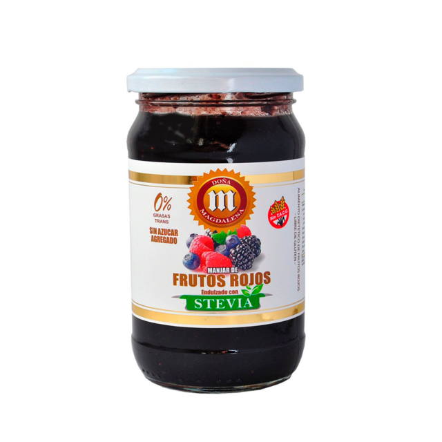 Doña Magdalena Mermelada Frutos Rojos con Stevia Red Berries Jam with Stevia / 400g