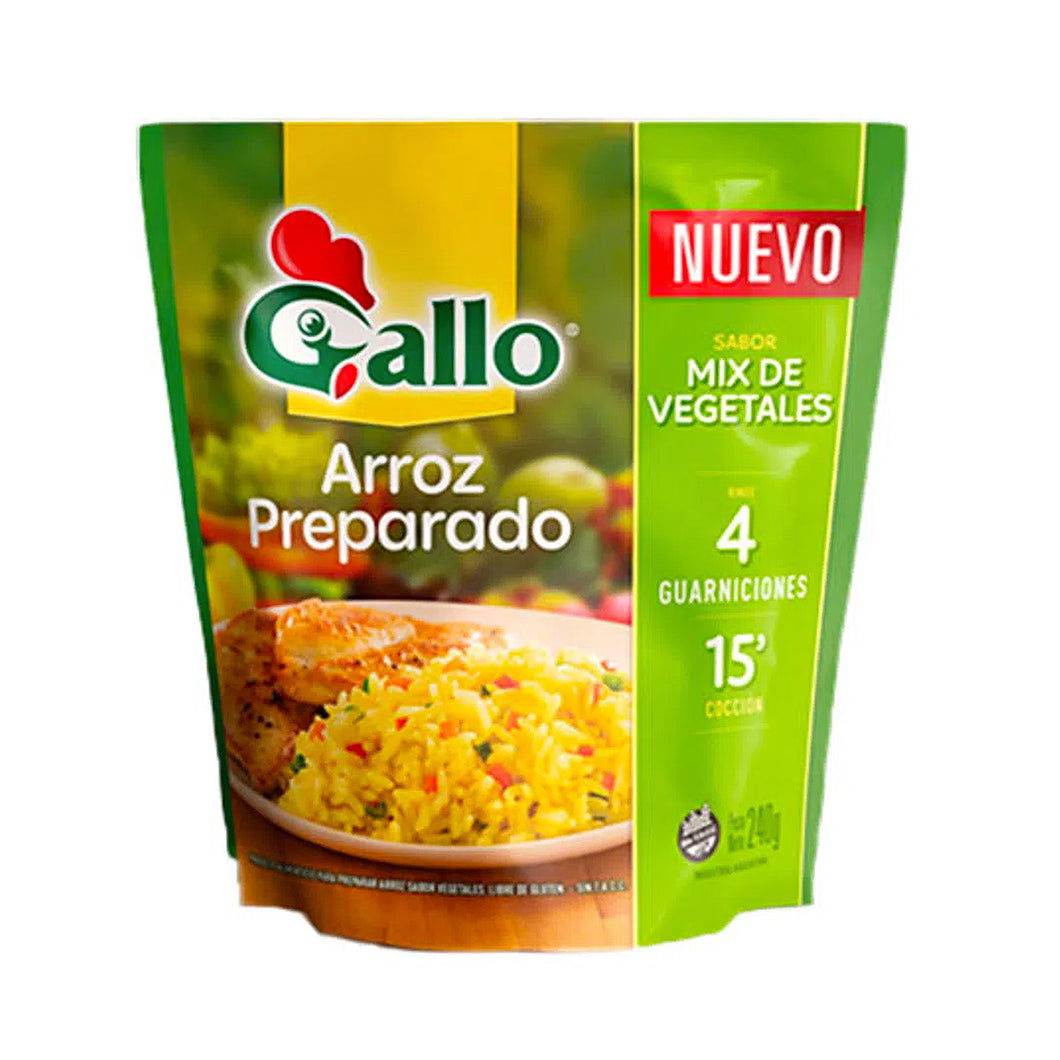 Gallo Arroz Preparado Sabor Vegetales / 240g