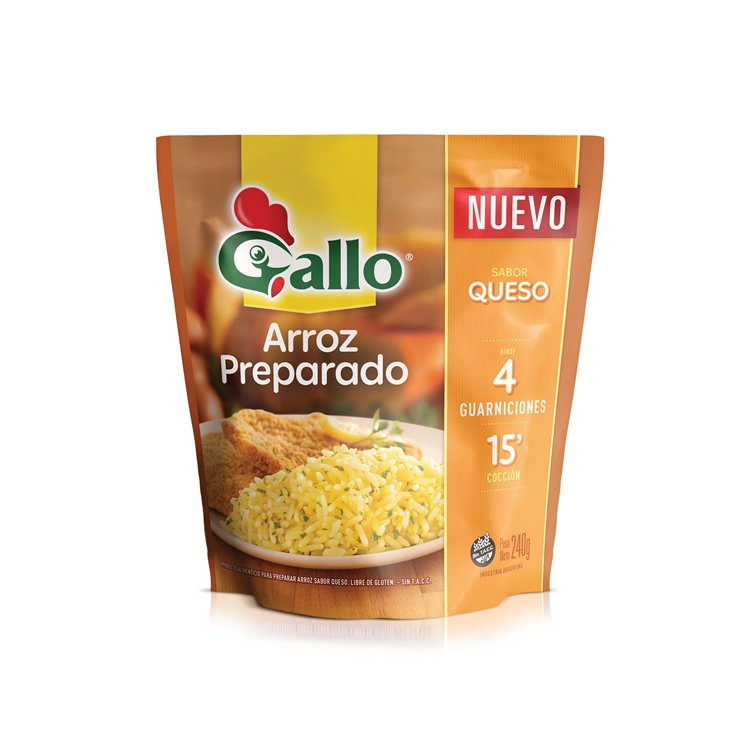 Arroz Gallo sabor queso 240g
