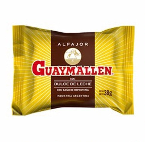Guaymallen Chocolate Alfajor with Dulce de Leche / 38g (Pack of 6)