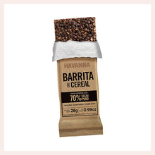 Load image into Gallery viewer, Havanna Chocolate Cereal Bar Dark 70% Pure Cacao x 3