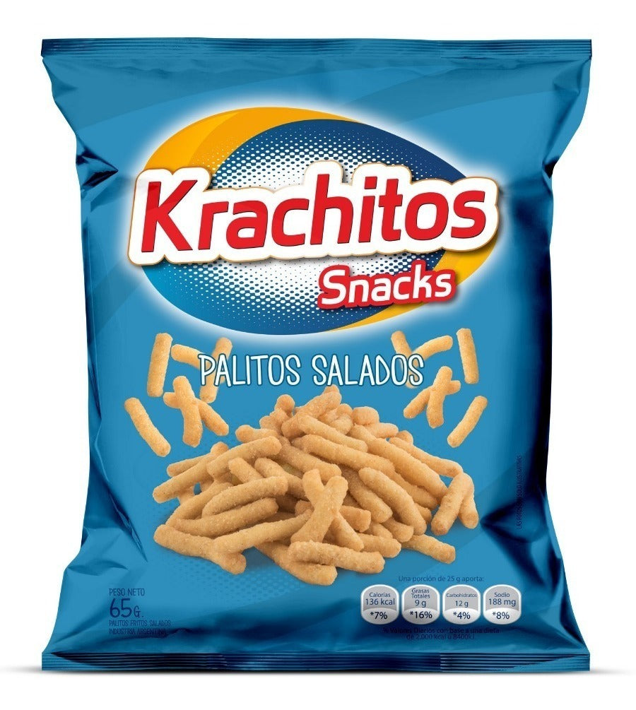 Krachitos Snacks - Palitos Salados 65g x 2