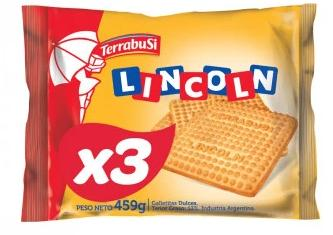 GALLETITAS LINCOLN TRIPACK - TERRABUSI