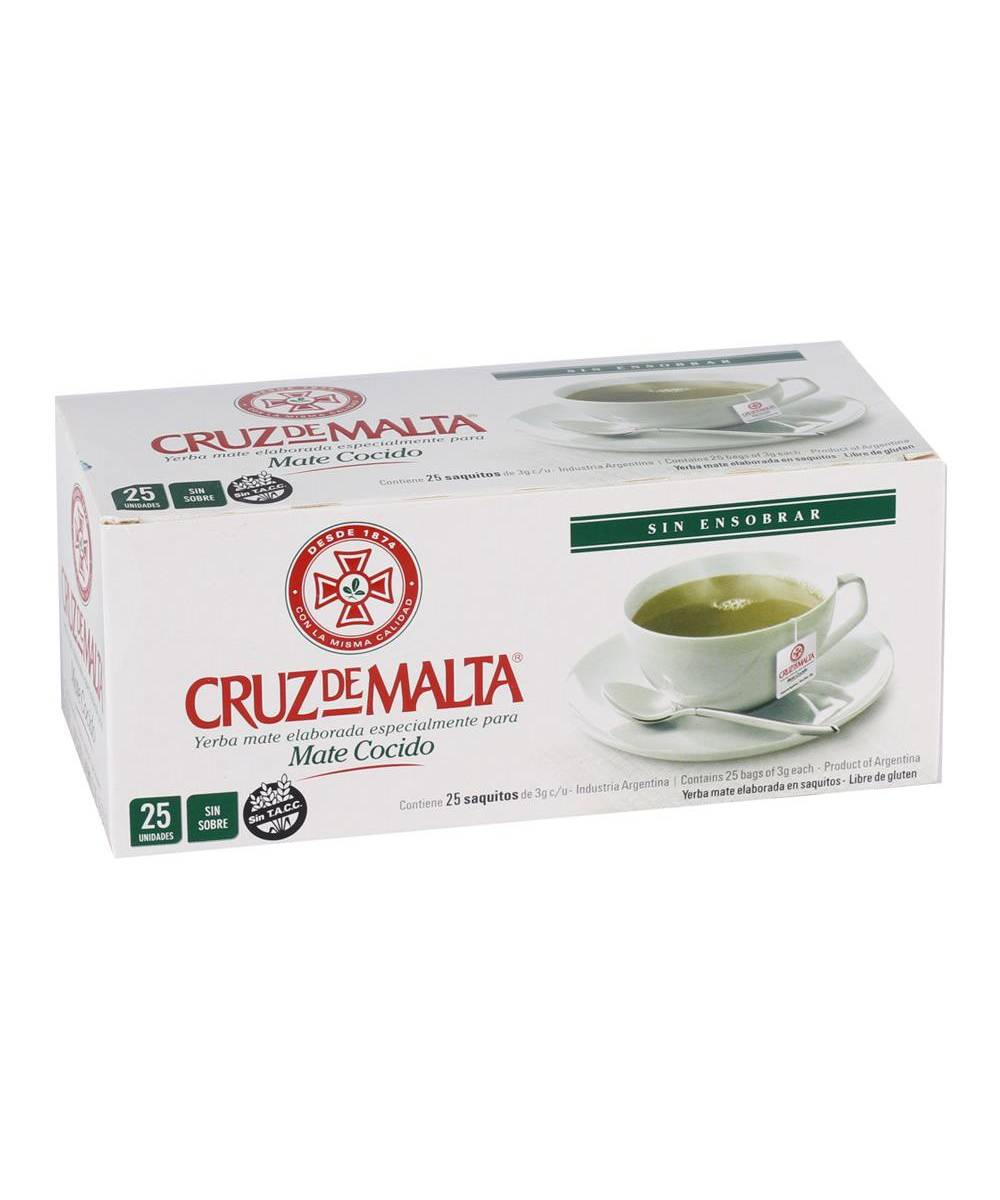 Cruz de Malta Mate Cocido Yerba Mate Tea Bags (25 Count)