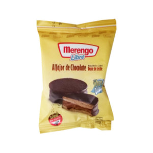 Merengo Alfajor de Chocolate con Dulce de Leche Chocolate Alfajor with Dulce de Leche GLUTEN FREE (Pack of 3)