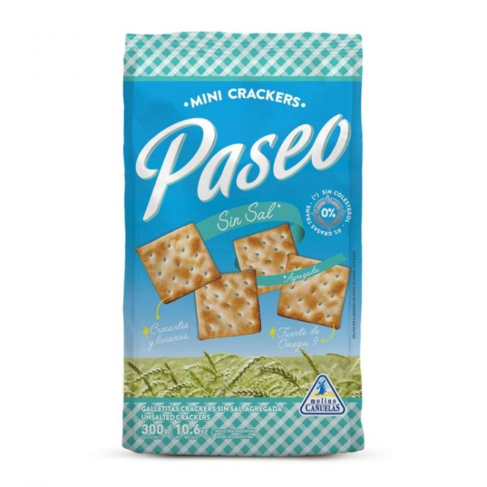 Paseo mini crackers - Galletas Sin Sal (Unsalted)/ 300g