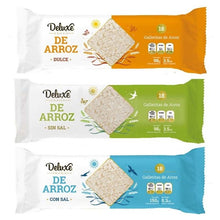 Load image into Gallery viewer, Deluxe Galleta de Arroz Sin Sal Rice Cookies Unsalted GLUTEN FREE / 98g