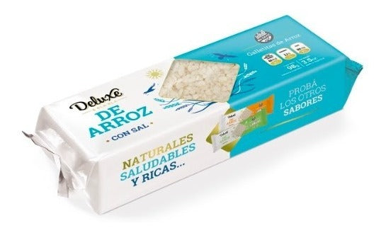 Deluxe Galletas de Arroz con Sal Salted Rice Cookies GLUTEN FREE / 98g