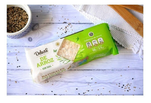 Deluxe Galleta de Arroz Sin Sal Rice Cookies Unsalted GLUTEN FREE / 98g