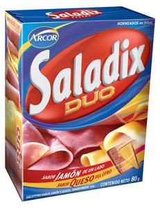Saladix Duo Ham & Cheese Flavored Snack Crackers (2 Boxes)