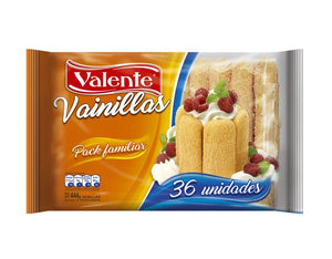 Valente Vainillas Vanilla Lady Fingers / 444g (Pack of 36)
