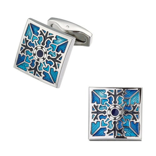 Men's Luxury Cufflinks Collection - Silver Square Geometric