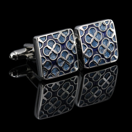 Men's Luxury Cufflinks Collection - Silver Geometric