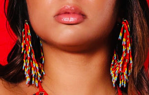 Fiery Figi Beaded Earrings