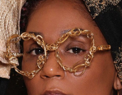 24 karat Gold plated Lensless  - Burkinabaé Couture Eyewear