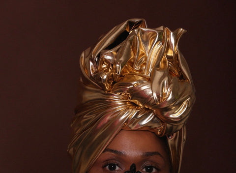 Golden Shimmer- Burkinabaé Headwrap