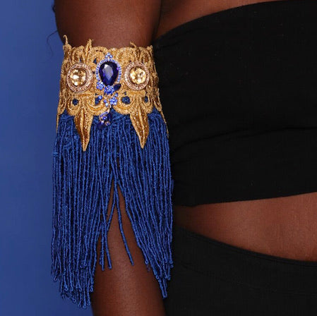 Jeweled Fringe Cuff Bracelet