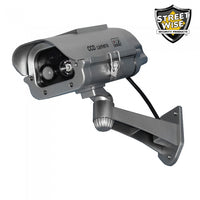 dummy camera, fake camera, outdoor housing, home security, home invasion