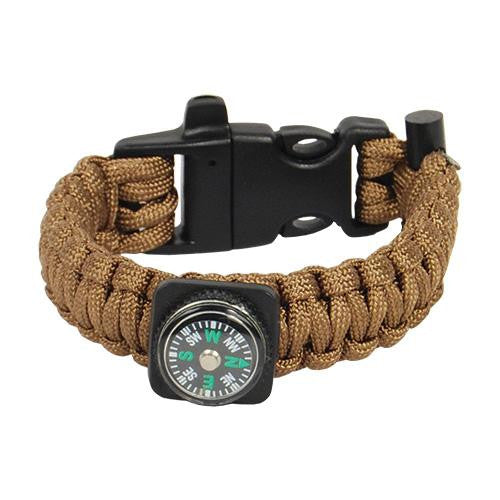 paracord bracelet, whistle, self protection
