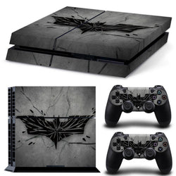 Batman Logo Vinyl Decal Stickers for the PS4 Console + 2 Stickers for your controllers