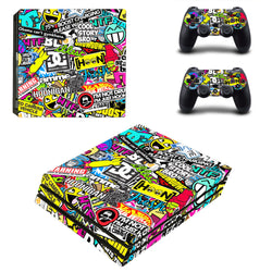 Crazy Vinyl pattern Skin For PlayStation 4 Pro PS4 Pro
