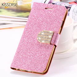 CCG Premium - Free Glitter Crystal Diamond Leather Wallet Case For Samsung Galaxy S6 Edge Plus S7 Edge Bags
