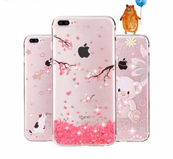 iPhone 7/7 Plus Rhinestone Glitter Silicone Cover