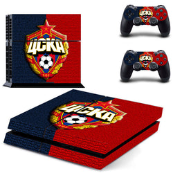 Football Club CSKA Moscow Vinyl Skin Sticker for Sony PS4 Console and 2 Controllers Decal Cover Game Accessories