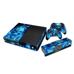 Premium Console Skin - Blue Skull Skin for the Xbox One