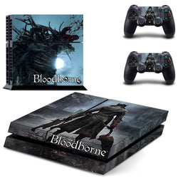 Bloodborne Play 4 PS4 Skin 1 Set Skins For play station 4 Sticker Decal Cover + 2 Controller Sticker ps4 accessories
