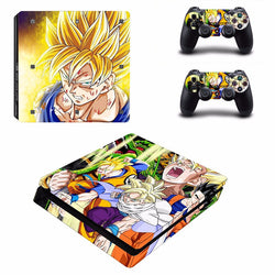 Dragon Ball Z Vegeta Vinyl Decal For Playstation 4 Slim Console and Controller Vinyl Skins Sticker For PS4 Silm Protective Skin