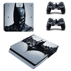 Batman Series PS4 Slim Sticker Skin PS4 Slim Stickers + 2 Controller Skin Console Stickers PS4 Slim Protective Skin