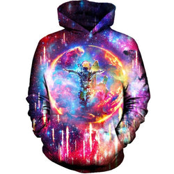 CCG PREMIUM 3D PRINTED UNISEX HOODIE -Astronaut Power Space Galaxy