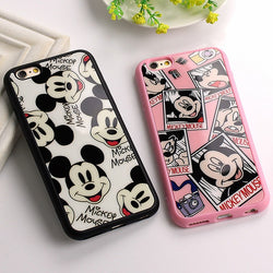 CCG Premium - Free Luxury Mickey/Minnie Black or Pink Protective Case For Multiple iPhone Models