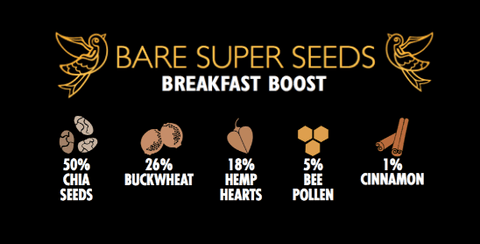 Bare Super Seeds Breakfast Boost by Two Birds Cereals