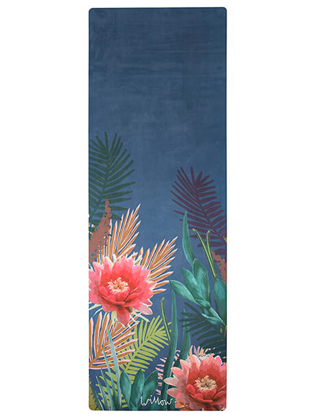 Tropicana Placement Indigo Yoga Mat by Willow Yoga