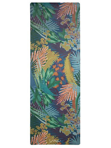 Kew Tropics Indigo Yoga Mat by Willow Yoga
