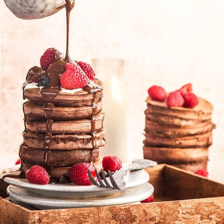 Double Chocolate Protein Pancake Mix by Stacks of Goodness