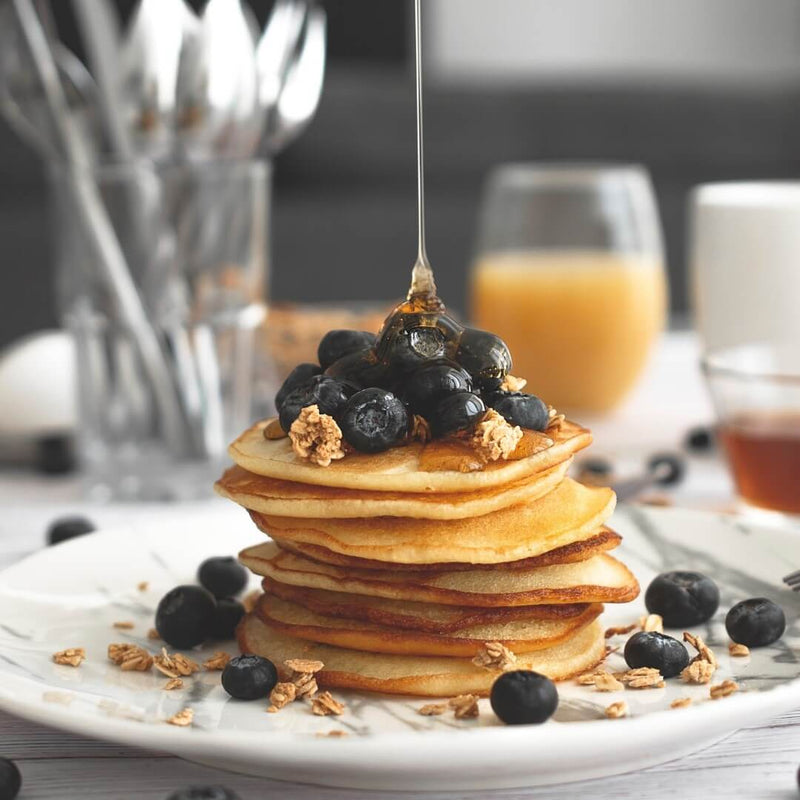 Vanilla and Blueberry Protein Pancake Mix by Stacks of Goodness