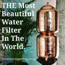 Copper Water Filter Tank 11L With 7 Crystals for Ayurveda Wellness by My Copper Cup