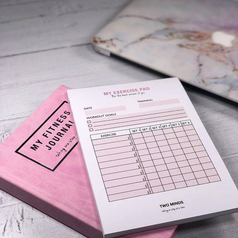 My Fitness Journal in Pink + My Exercise Pad Set